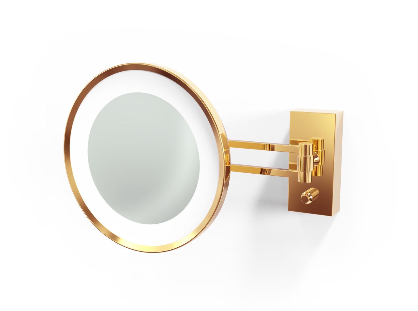 Lusterko kosmetyczne ścienne LED 5x Decor Walther BS 36/V Gold
