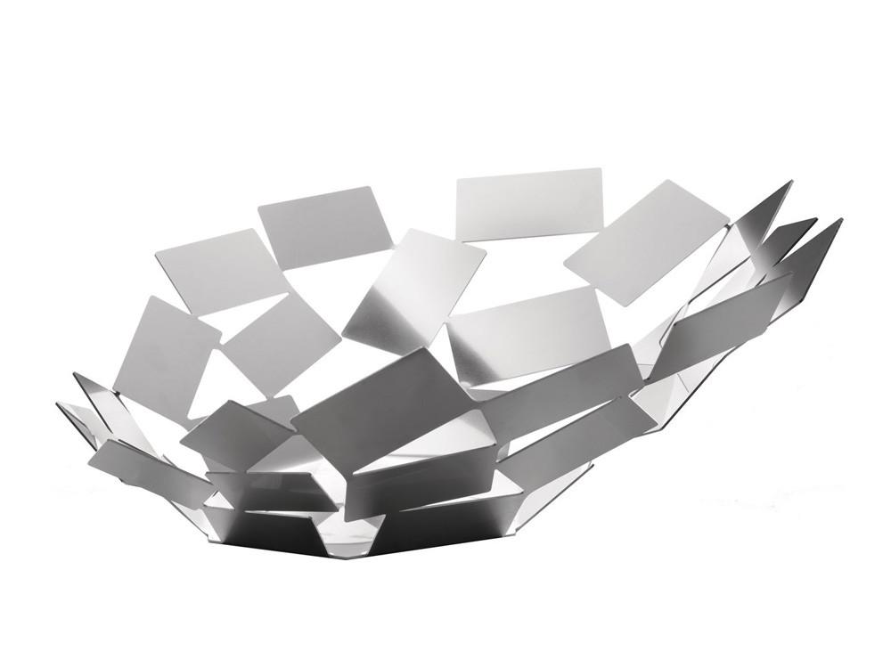 Patera dekoracyjna na owoce Alessi La Stanza dello Scirocco Silver