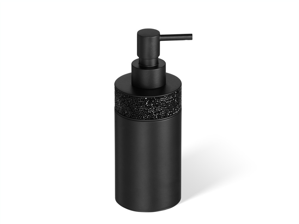 Dozownik do mydła Decor Walther Rocks Swarovski Crystal SSP1 Black Matt