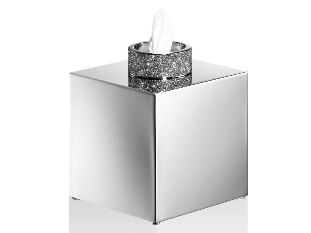 Pudełko na chusteczki Decor Walther Rocks Swarovski Crystal KB Chrome