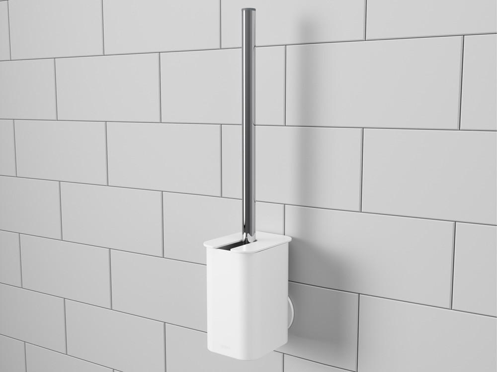 Szczotka do WC ścienna/ podłogowa Umbra Flex White