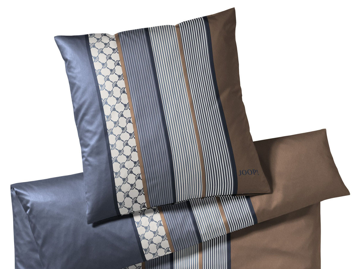 Pościel Joop Cornflower Stripes Blue Brown