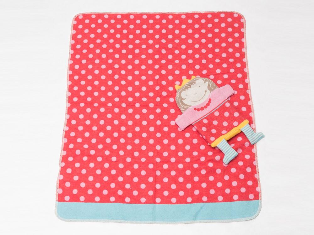 Kocyk + pokrowiec maskotka DF Juwel Dots Pink 70x90