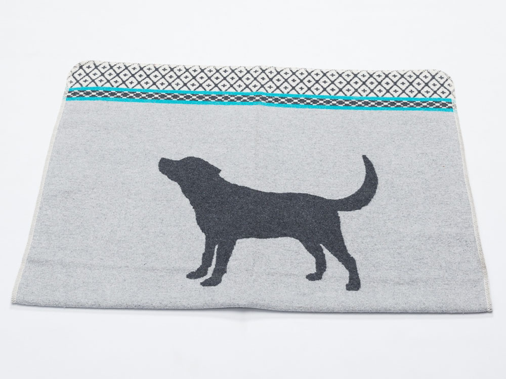 Koc dla psa DF Dog Cross Turquoise 70x90