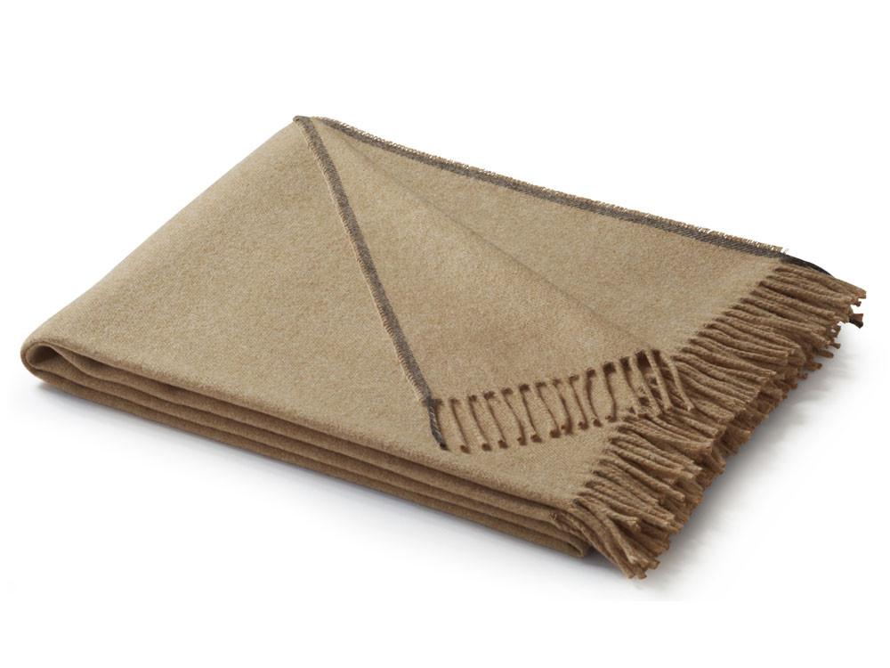 Pled Biederlack Sage Tones Uni Camel 130x170