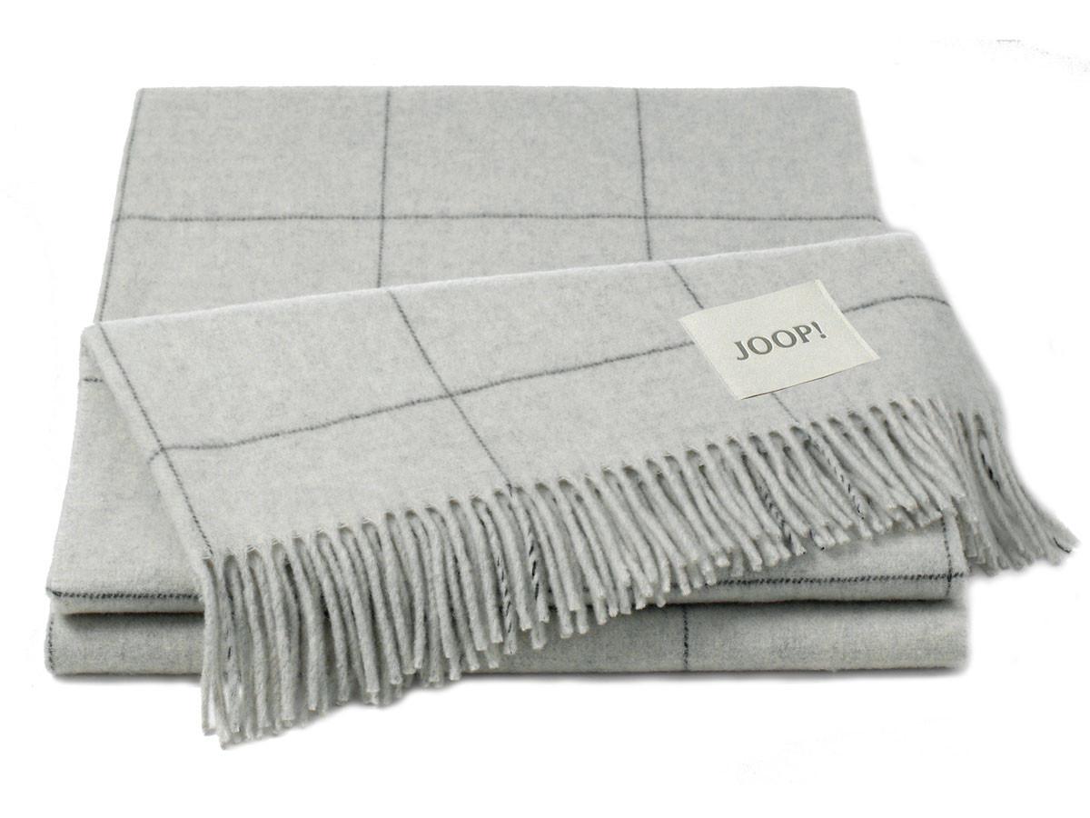 Pled Joop Wool Squares Silver 130x180