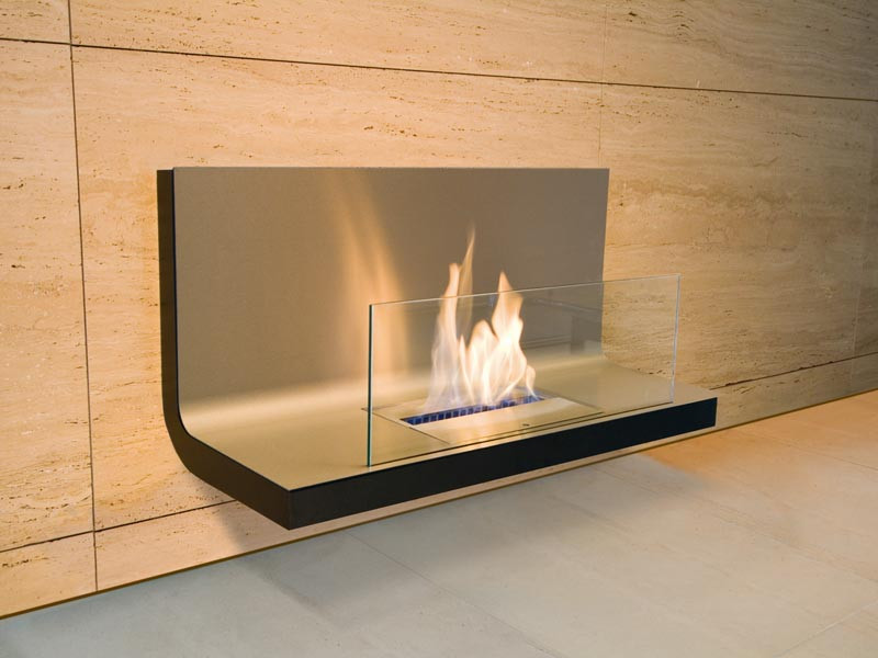 Biokominek Radius Wallflame I Matt Black