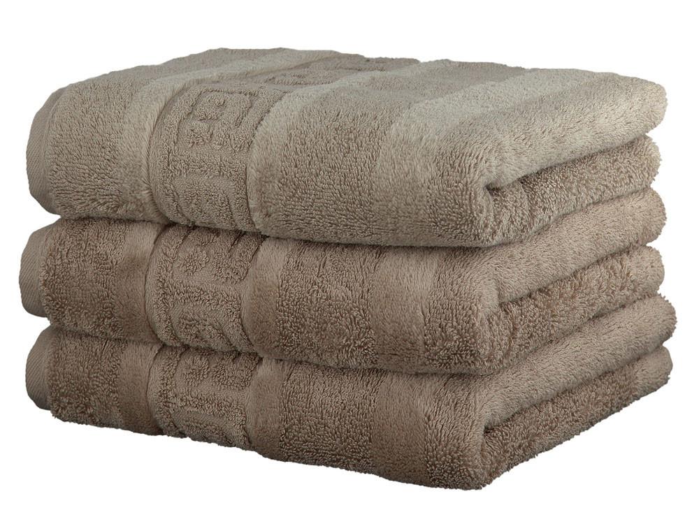 Ręcznik Cawo Noblesse Greek Uni Sand 50x100