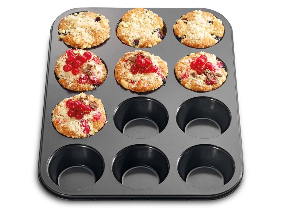 Forma do pieczenia 12 muffinek Kuchenprofi