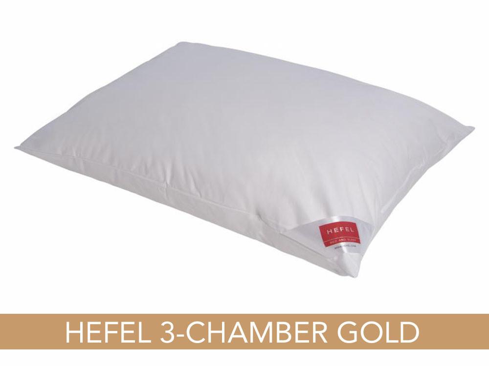 Poduszka puchowa Hefel Gold Down 3-Chamber 40x40