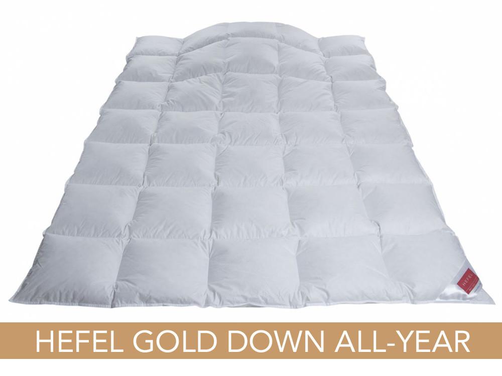 Kołdra puchowa Hefel Gold Down All-Year Medium 140x200