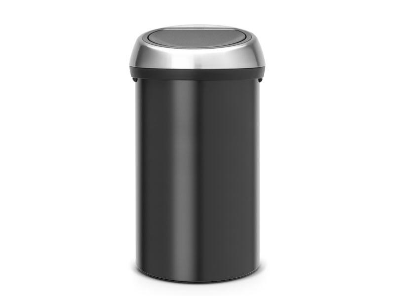 Kosz na śmieci Brabantia Touch Bin Black 60L z pokrywą FPP