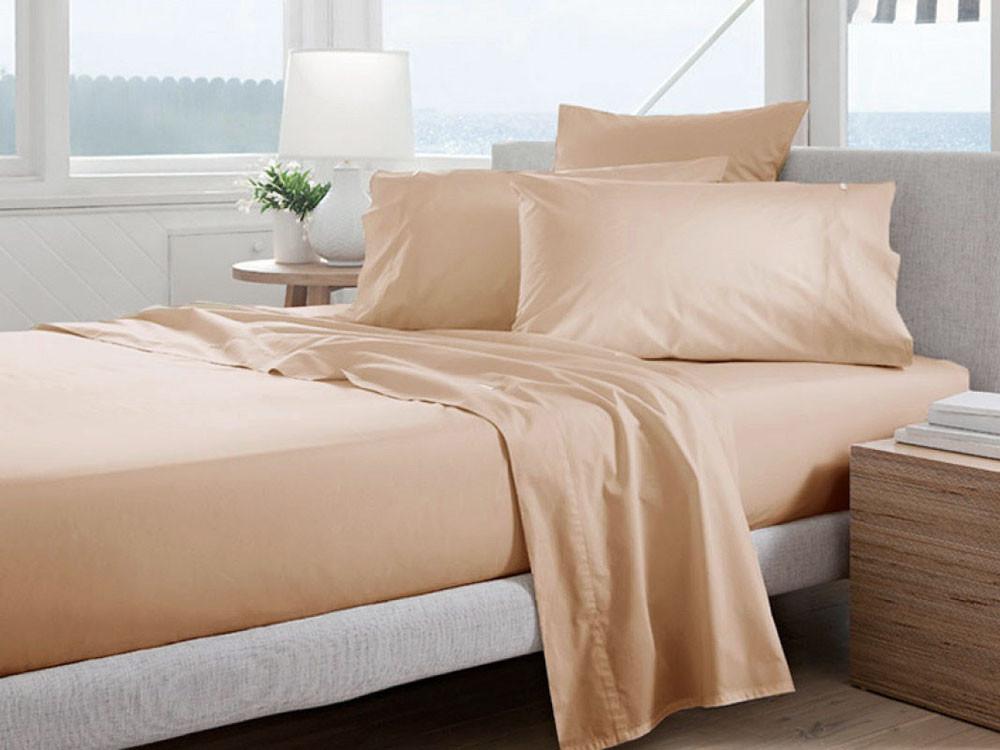 Poszewka Curt Bauer Uni Comfort Apricot 40x40