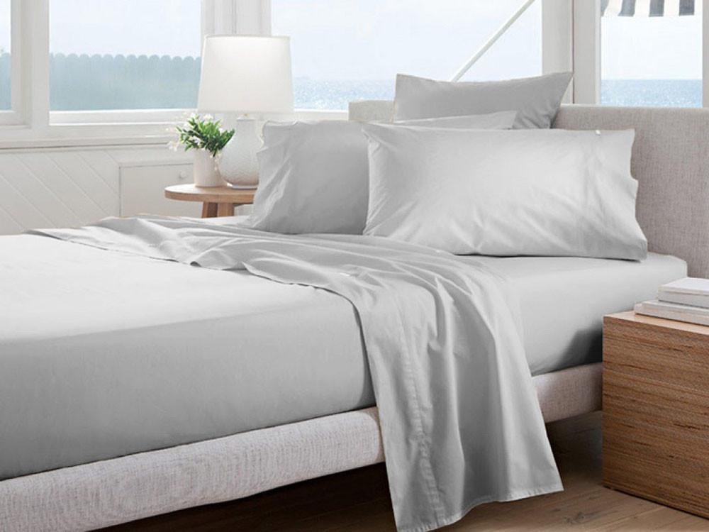 Poszewka Curt Bauer Uni Comfort Silver Grey 80x80
