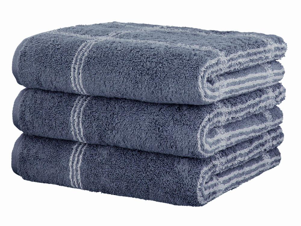 Ręcznik Cawo Two-Tone Graphic Dark Blue