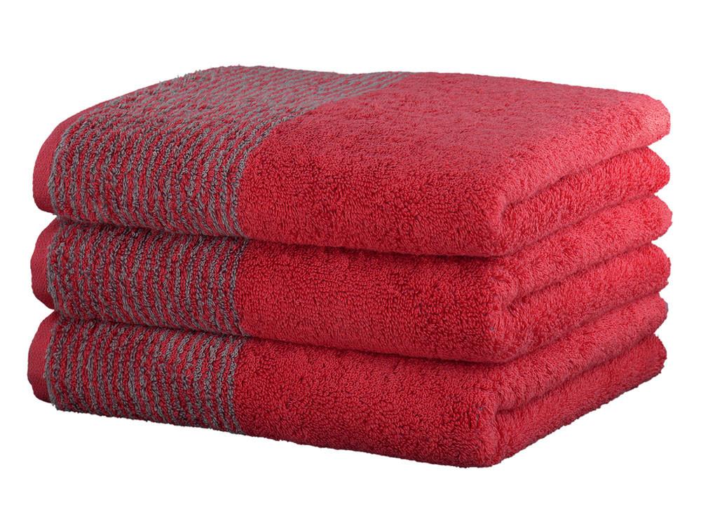 Ręcznik Cawo Two-Tone Uni Red