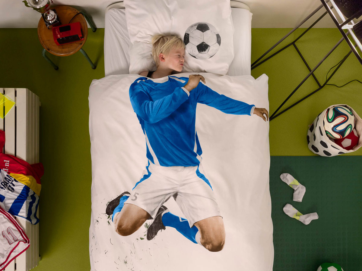Pościel Snurk Soccer Champ Blue 140x200