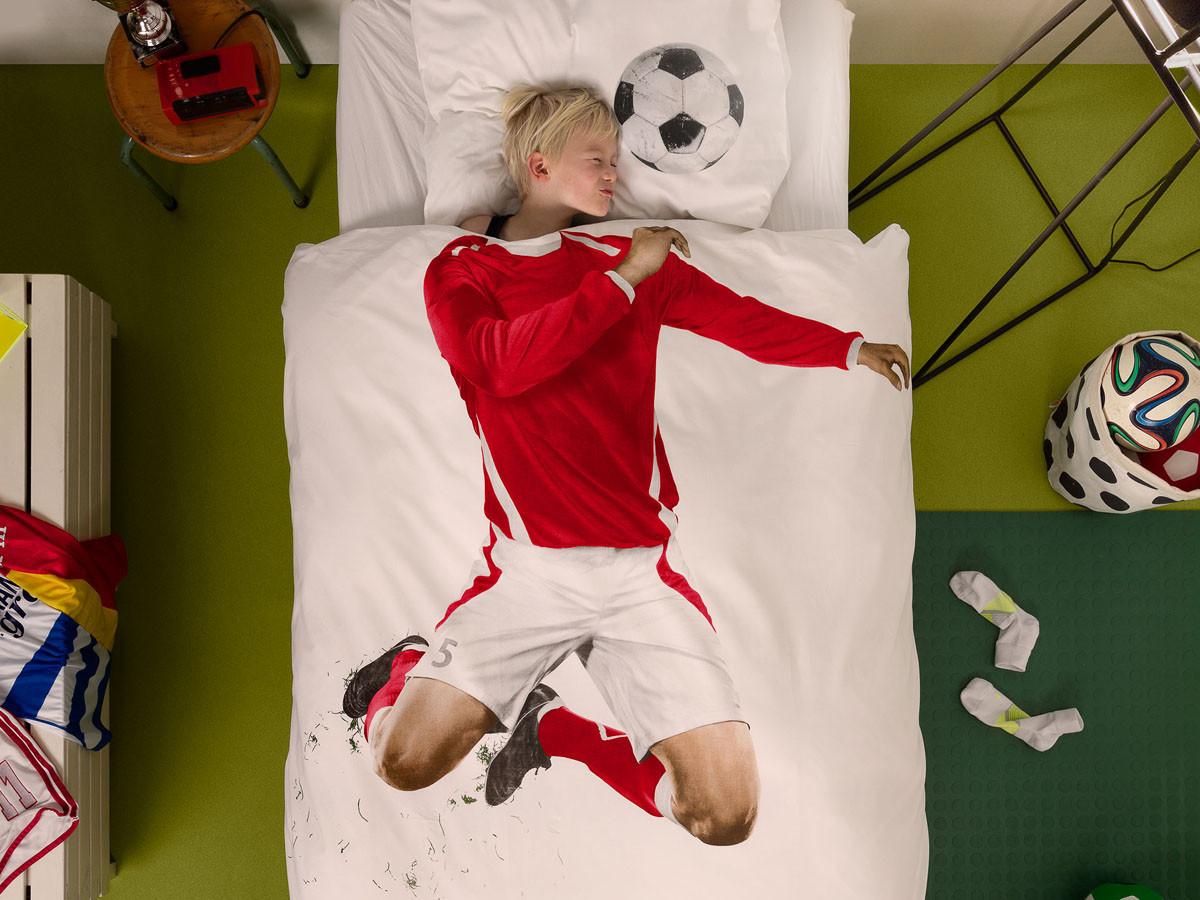 Pościel Snurk Soccer Champ Red 140x200