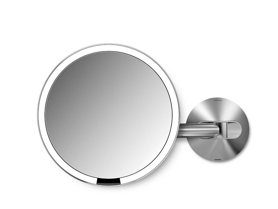 Lusterko kosmetyczne Simplehuman Wall Sensor LED 5x Silver