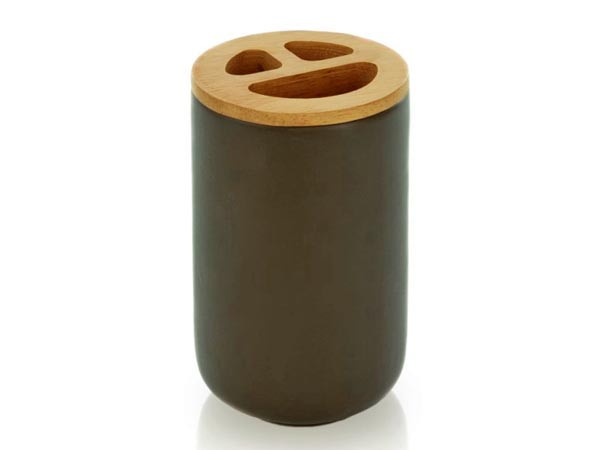 Stojak na szczoteczki Move Modern Ceramic Olive