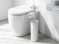 Stojak na papier toaletowy i pojemnik na zapas 2w1 Umbra Portaloo..