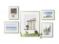 Galeria - zestaw ściennych ramek na zdjęcia x5 Umbra Matinee Brass Matt..