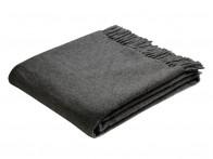 Pled Biederlack Pure Wool Uni Antrazit 130x170..