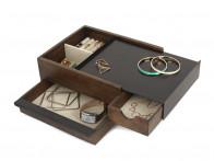 Pudełko na biżuterię Umbra Stowit Walnut..