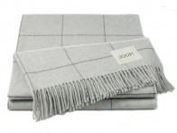 Pled Joop Wool Squares Silver 130x180..