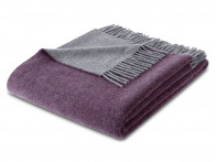 Pled Biederlack Wool Cashmere Purple Grey 130x170..