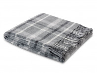 Pled Biederlack Pure Wool Square Grey 130x170..