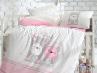 Pościel IGI Ranforce Baby Friends Pink x4 100x150..