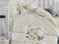 Pościel IGI Ranforce Baby Little Beige x4 100x150..