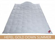Kołdra puchowa Hefel Gold Down Summer 155x200..