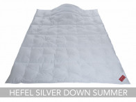 Kołdra puchowa Hefel Silver Down Summer 240x220..