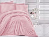 Pościel satynowa Cizgili Stripes Pink 200x220..