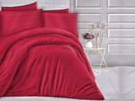 Pościel satynowa Cizgili Stripes Red 160x200..