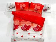 Pościel satynowa Valentini Lovely Red 200x220..