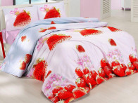Pościel satynowa Valentini Strawberry Red 160x200..