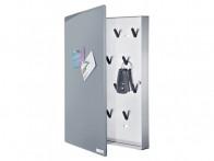 Skrzynka na klucze Blomus Velio Vertical Grey L z tablicą magnetyczną..