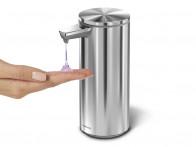 Dozownik bezdotykowy z ładowarką Simplehuman Sensor Silver Matt..