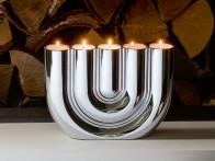 Świecznik/kandelabr na tealight'y x5 Philippi Double U..