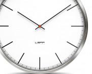 Zegar LEFF one35 steel white index..