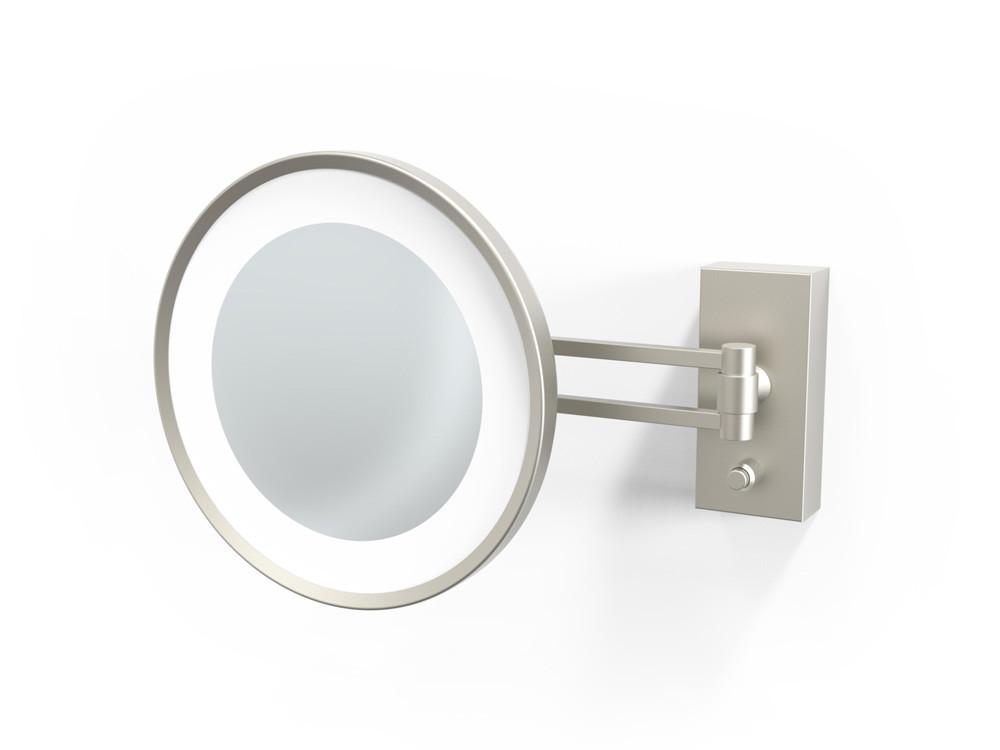Lusterko kosmetyczne ścienne LED 5x Decor Walther BS 36/V Nickel Satin