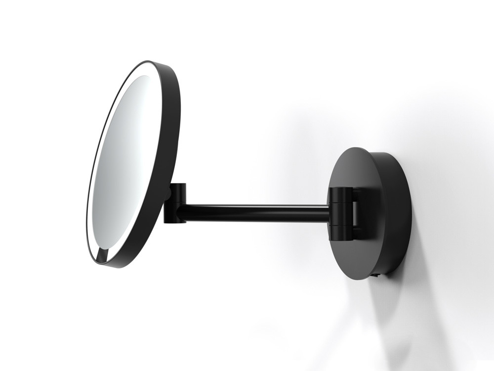 Lusterko kosmetyczne ścienne LED 5x Decor Walther Just Look Sensor WR Black Matt