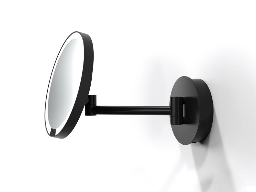 Lusterko kosmetyczne ścienne LED 5x Decor Walther Just Look Sensor WD Black Matt