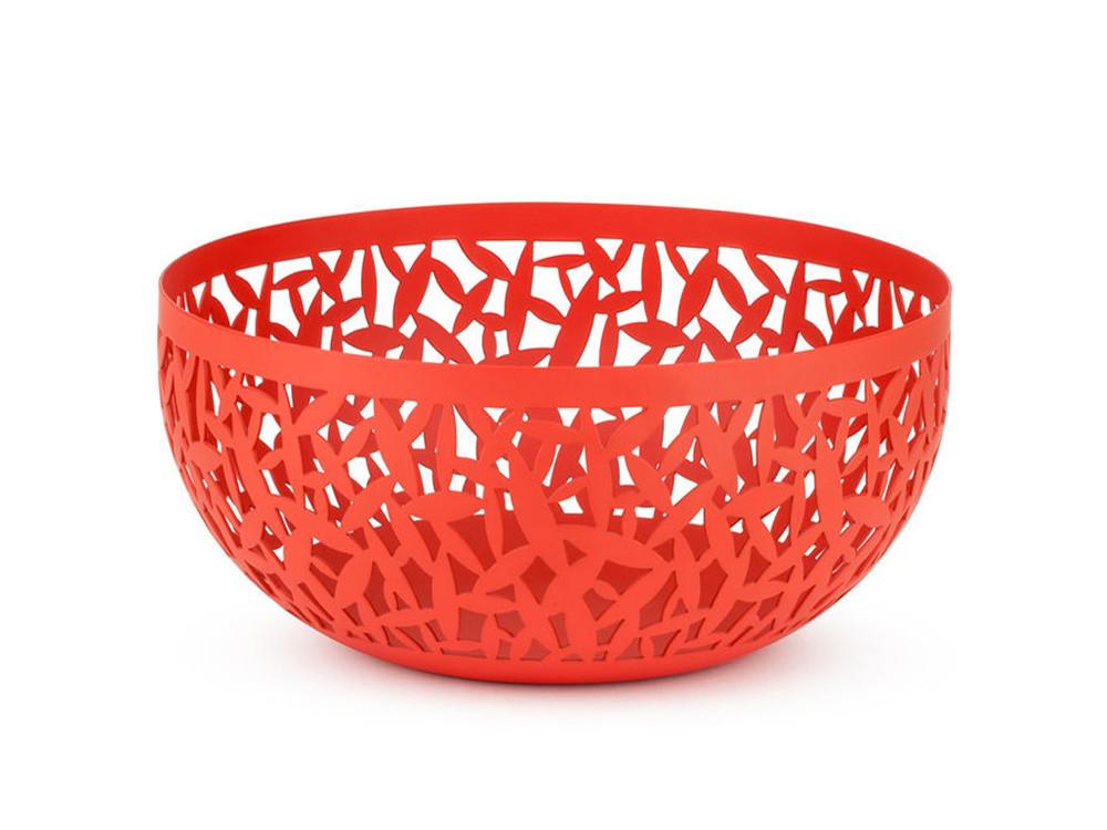 Misa dekoracyjna na owoce Alessi Cactus! Super Red 21