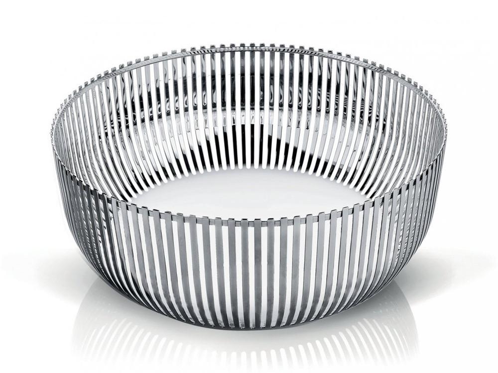 Kosz dekoracyjny na owoce Alessi PCH05 L Silver