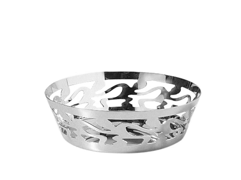 Koszyk na pieczywo lub owoce Alessi Ethno Silver 18