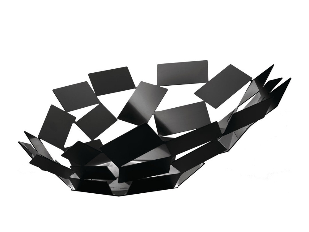 Patera dekoracyjna na owoce Alessi La Stanza dello Scirocco Black